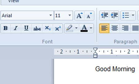 changing default font in wordpad
