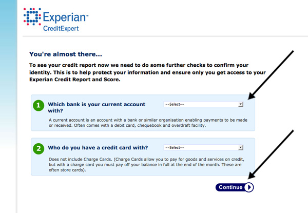 You're almost there message on Credit Expert website