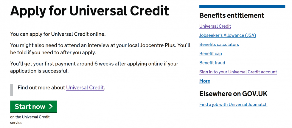 Credit Card Sign >> How to claim Universal Credit online | Digital Unite