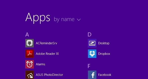 Apps on Windows 8.1