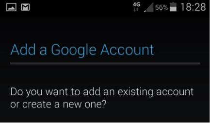 Android screenshot add a Google Account