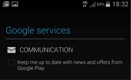 Android phone Google services screenshot