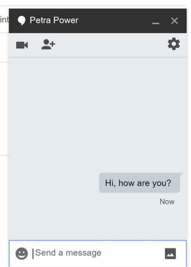 Gmail chat window dialogue