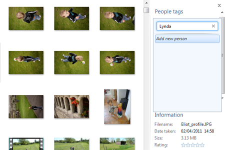 Windows live photo gallery people tag