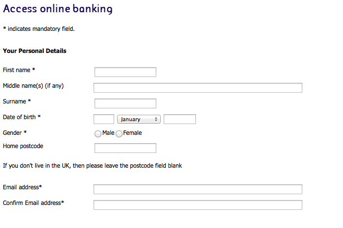 Adding personal details to a NatWest internet banking account