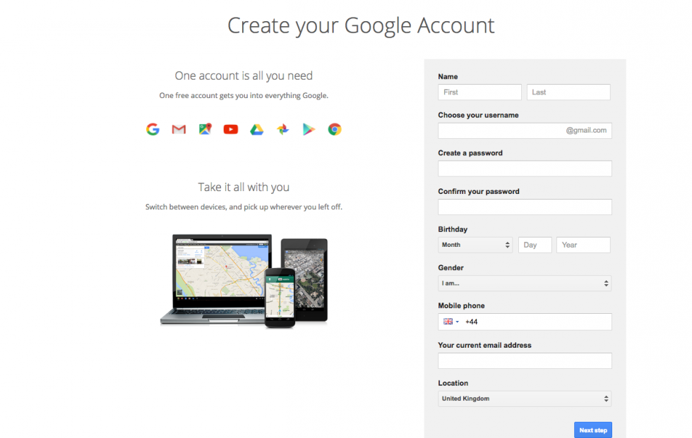 How to create a Gmail account | Digital Unite