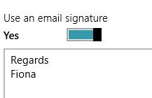 Change email signature