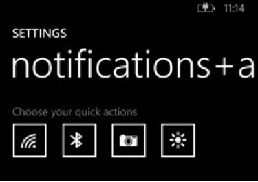 Windows phone settings screenshot
