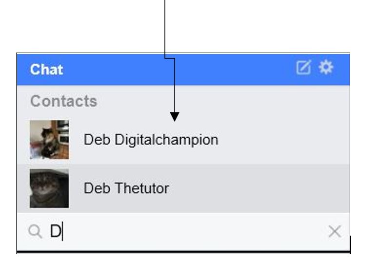 Click on a contact to start a chat