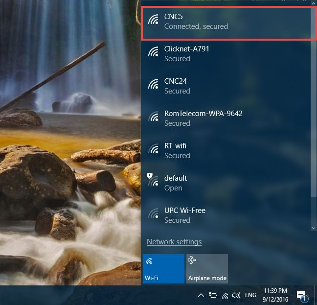 your windows 10 PC is finally connected to the internet