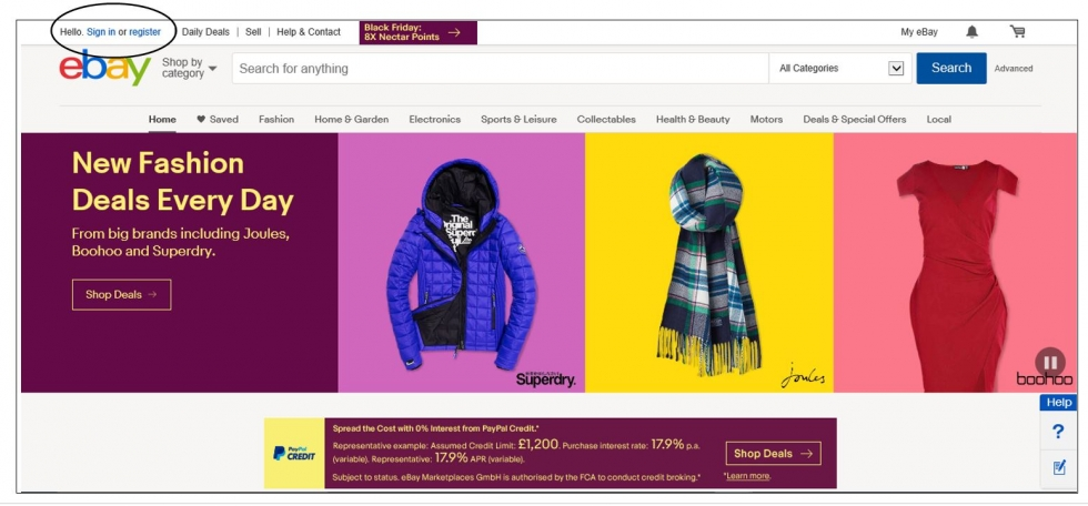 How to buy on ebay step by step guide sign in or register to ebay stopboris Choice Image