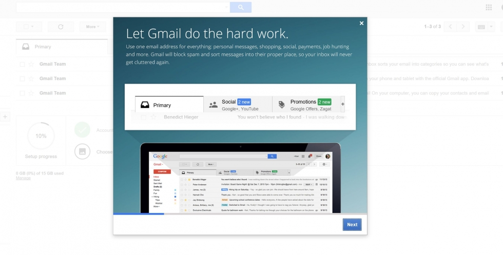 gmail dashboard