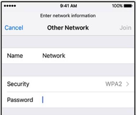 iphone wifi settings