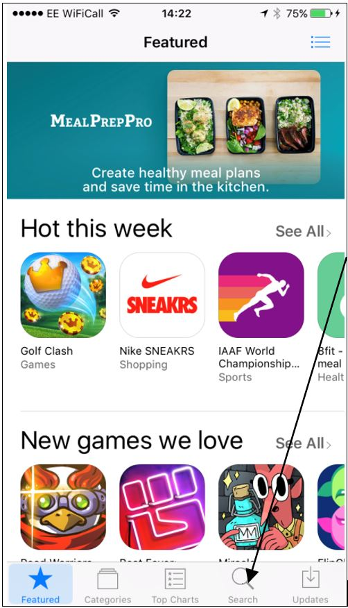 app store homepage screenshot