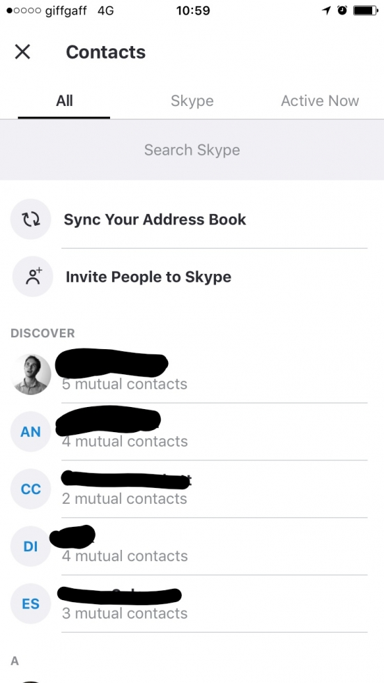 discover people in your contacts list