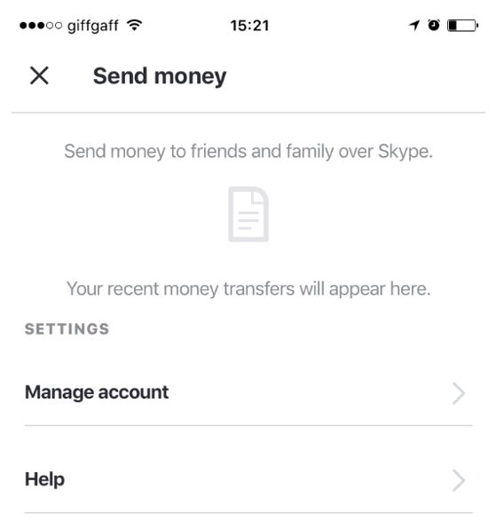 send money through Skype