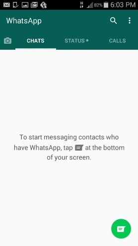 start a conversation with someone on whatsapp