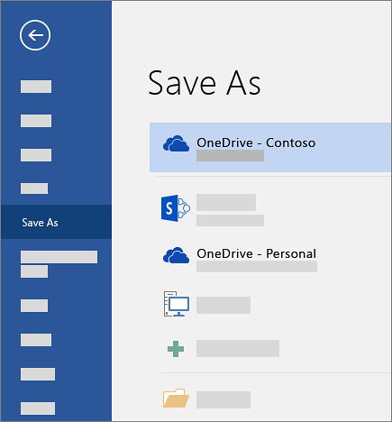 Screenshot showing MS Word Save As options
