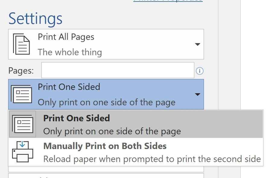 printing in office 365