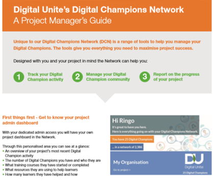 Our project manager guide to the Digital Champions Network