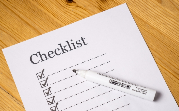 An image of a checklist