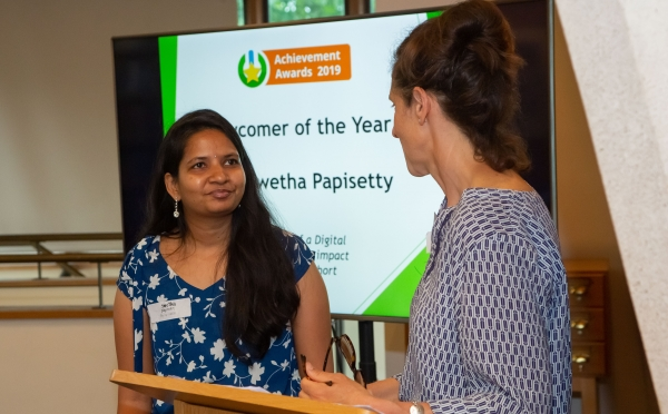 Swetha Papisetty and Emma Weston from Digital Unite